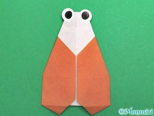 折り紙でセミの折り方手順27
