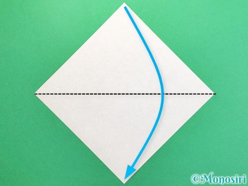 折り紙でカブトムシの折り方手順1