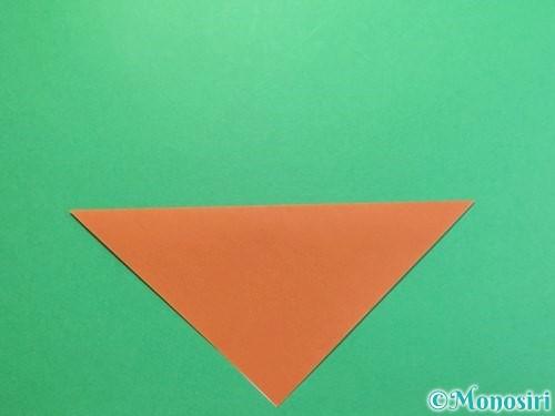 折り紙でカブトムシの折り方手順2