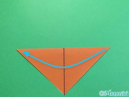折り紙でカブトムシの折り方手順3