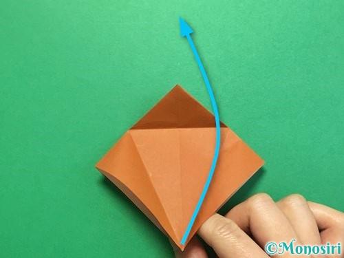 折り紙でカブトムシの折り方手順16