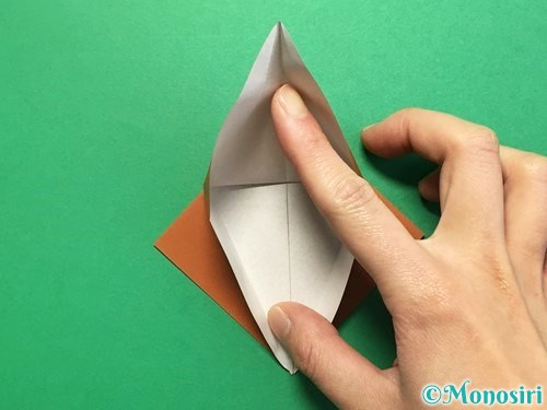 折り紙でカブトムシの折り方手順17