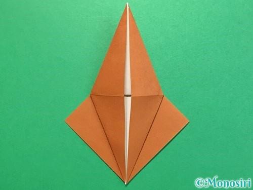 折り紙でカブトムシの折り方手順19