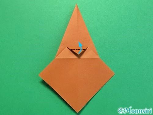 折り紙でカブトムシの折り方手順23