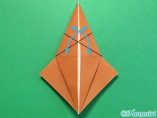 折り紙でカブトムシの折り方手順28