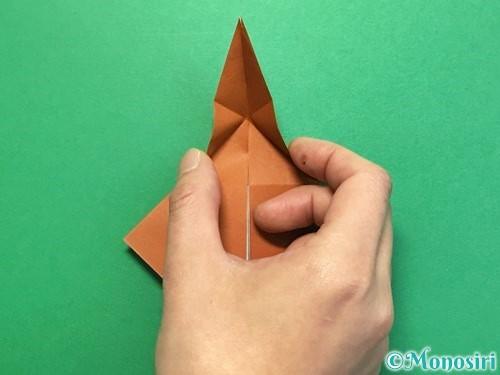 折り紙でカブトムシの折り方手順30