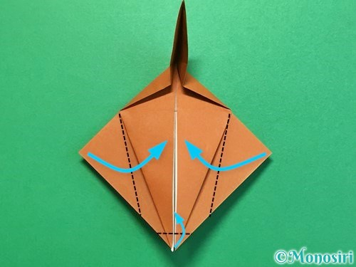折り紙でカブトムシの折り方手順32