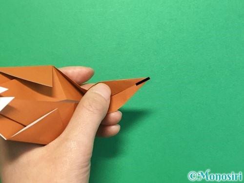 折り紙でカブトムシの折り方手順34