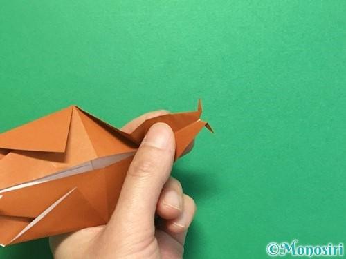 折り紙でカブトムシの折り方手順35