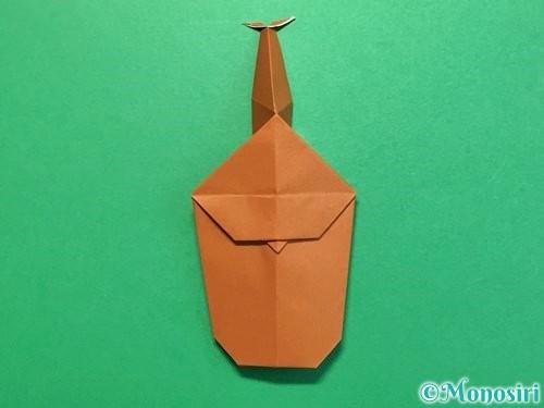 折り紙でカブトムシの折り方手順37