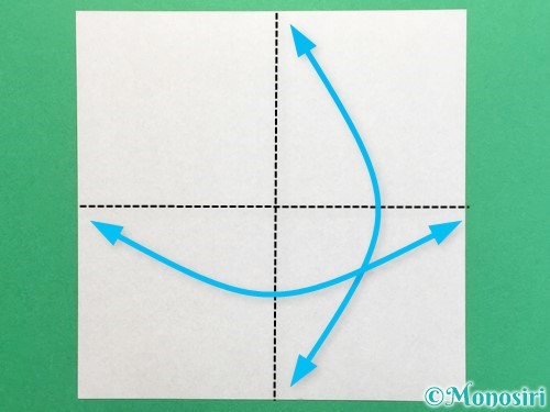 折り紙でクワガタの折り方手順1