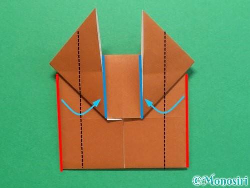 折り紙でクワガタの折り方手順18