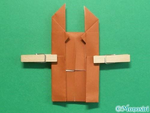 折り紙でクワガタの折り方手順19