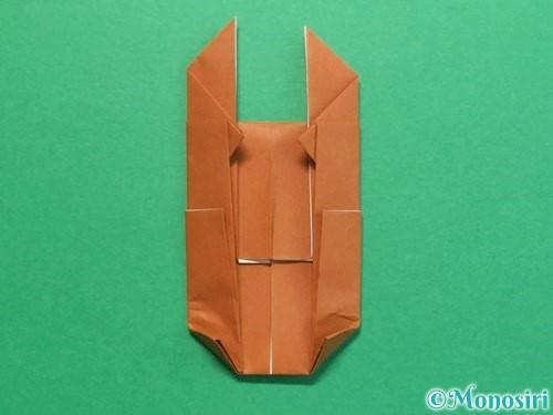 折り紙でクワガタの折り方手順21