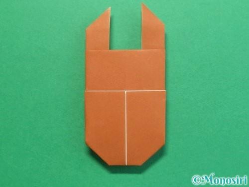 折り紙でクワガタの折り方手順22