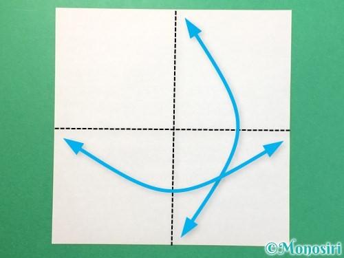 折り紙でTシャツと半ズボンの折り方手順1