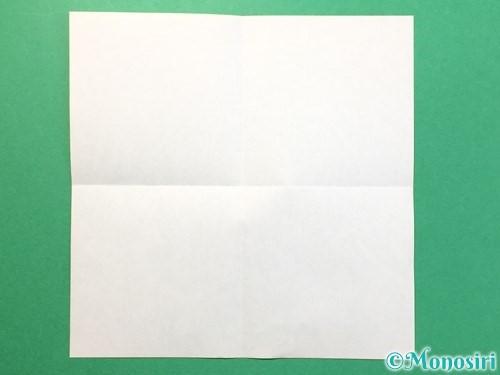 折り紙でTシャツと半ズボンの折り方手順2