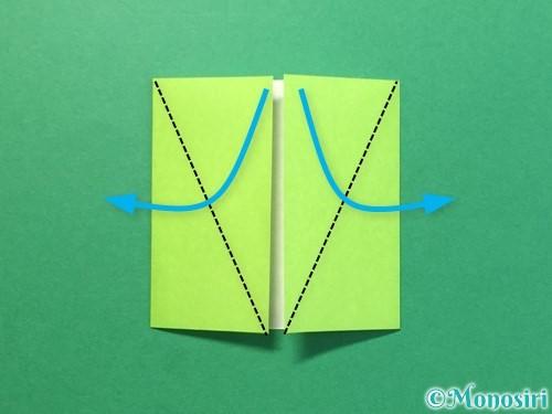 折り紙でTシャツと半ズボンの折り方手順7