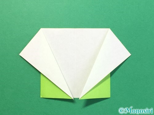 折り紙でTシャツと半ズボンの折り方手順8