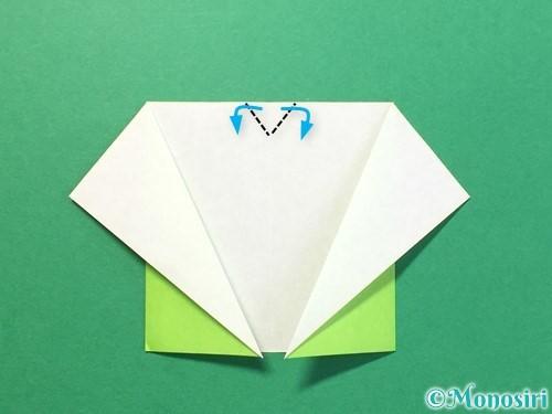 折り紙でTシャツと半ズボンの折り方手順10