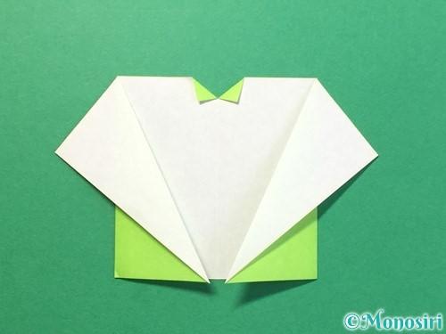 折り紙でTシャツと半ズボンの折り方手順11