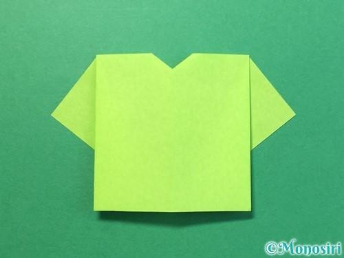 折り紙でTシャツと半ズボンの折り方手順12