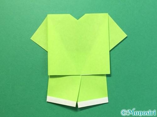 折り紙でTシャツと半ズボンの折り方手順24