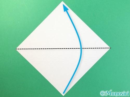 折り紙で麦わら帽子の折り方手順1