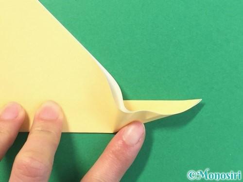 折り紙で麦わら帽子の折り方手順7