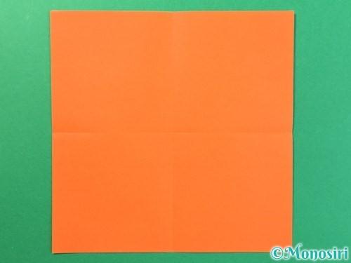 折り紙で太陽の作り方手順2