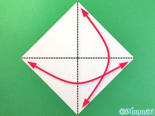 折り紙でアイスの折り方手順1