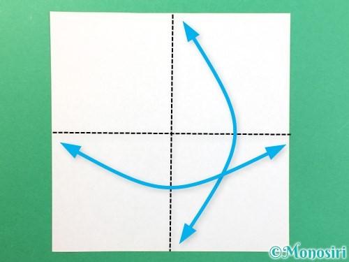 折り紙で風鈴の作り方手順1