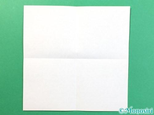 折り紙で風鈴の作り方手順2