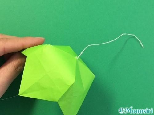 折り紙で風鈴の作り方手順53