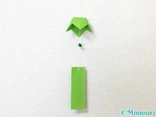 折り紙で風鈴の作り方手順54