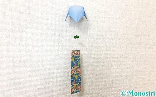 折り紙で作った風鈴
