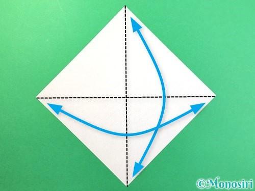 折り紙で幽霊の折り方手順1