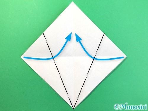 折り紙で幽霊の折り方手順3