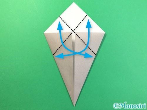折り紙で幽霊の折り方手順5