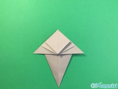 折り紙で幽霊の折り方手順16