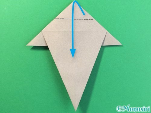折り紙で幽霊の折り方手順18