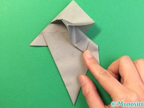 折り紙で幽霊の折り方手順24