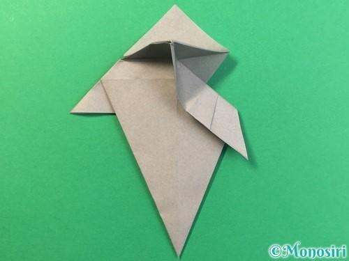 折り紙で幽霊の折り方手順25