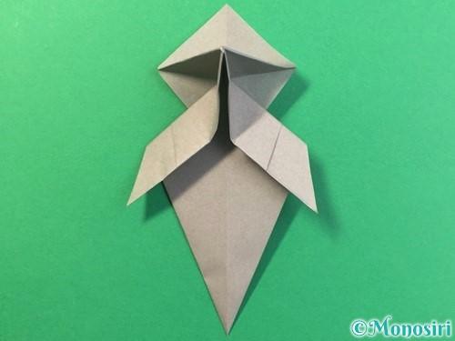 折り紙で幽霊の折り方手順26