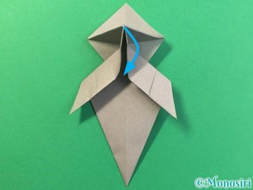 折り紙で幽霊の折り方手順27