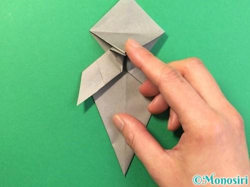 折り紙で幽霊の折り方手順28