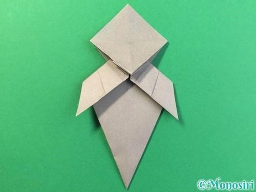 折り紙で幽霊の折り方手順29