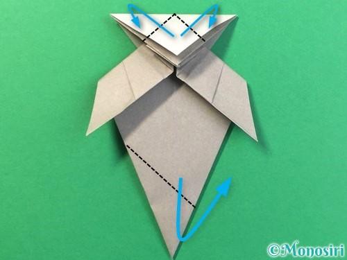 折り紙で幽霊の折り方手順32