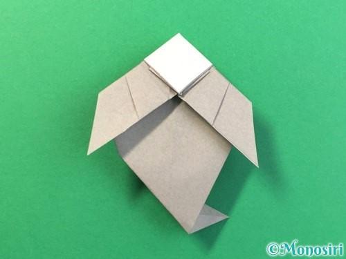 折り紙で幽霊の折り方手順33