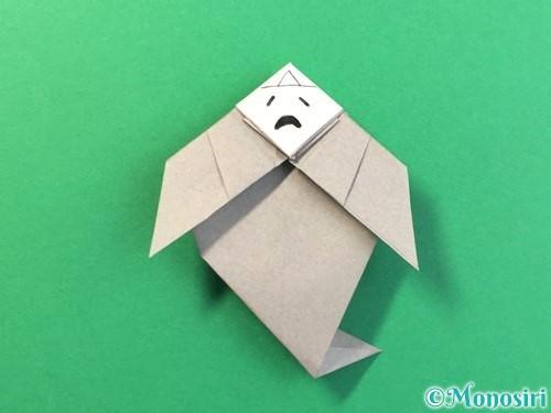 折り紙で幽霊の折り方手順34